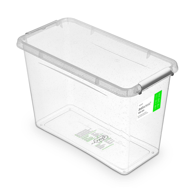 Antibakteriální box 13,0 l 40x20x26cm,transp.plast