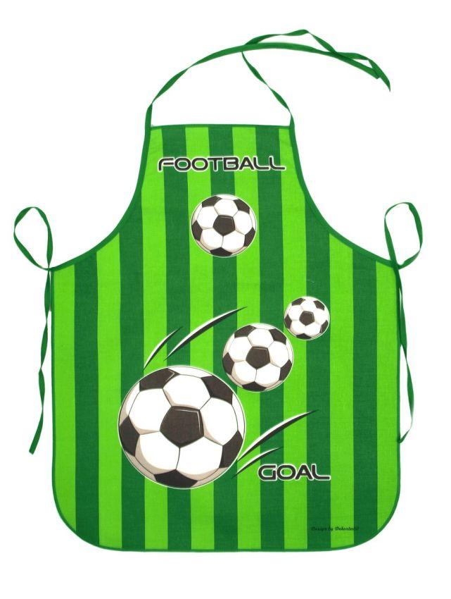 Zástěra Fotbal zelený K119 dětská 73x60cm