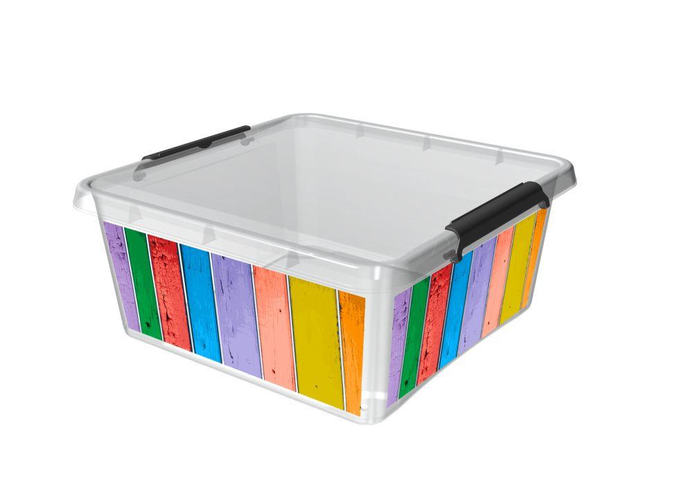 Box 18,0l 39x39x16,5cm,PRUHY,děts. plast
