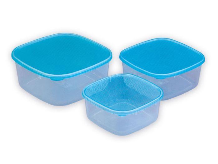 Box-sada 3ks, (0,9+1,2+2l), plast