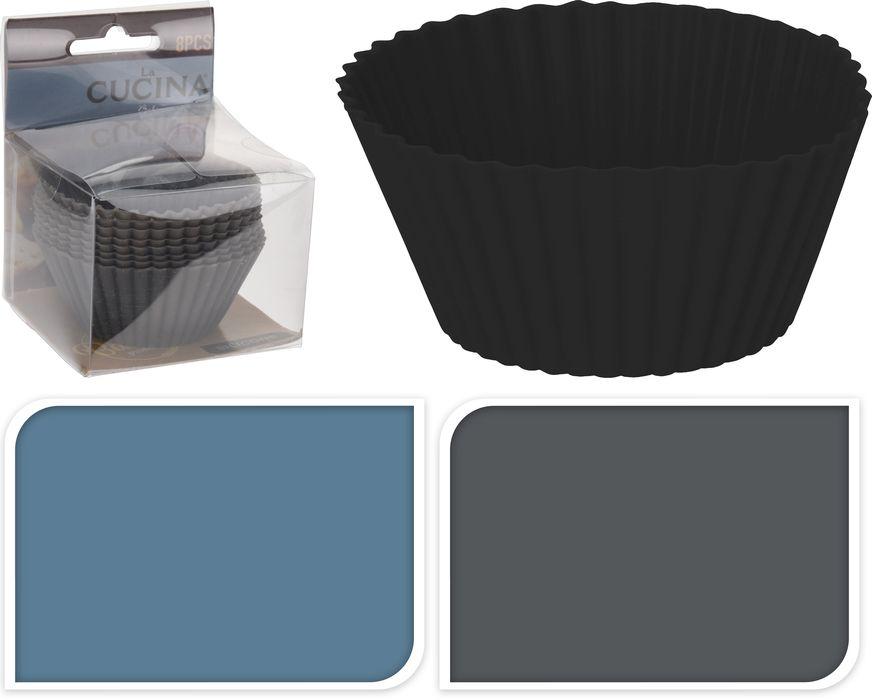 Košíček d x mm, 8ks, silikon, MUFFINY