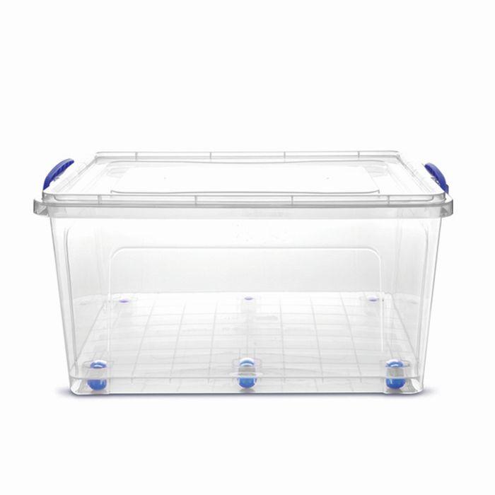 Box 42,0l CLEAR, 55x37x29cm+koleč., plast