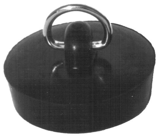 Zátka vana d46 černá bal.