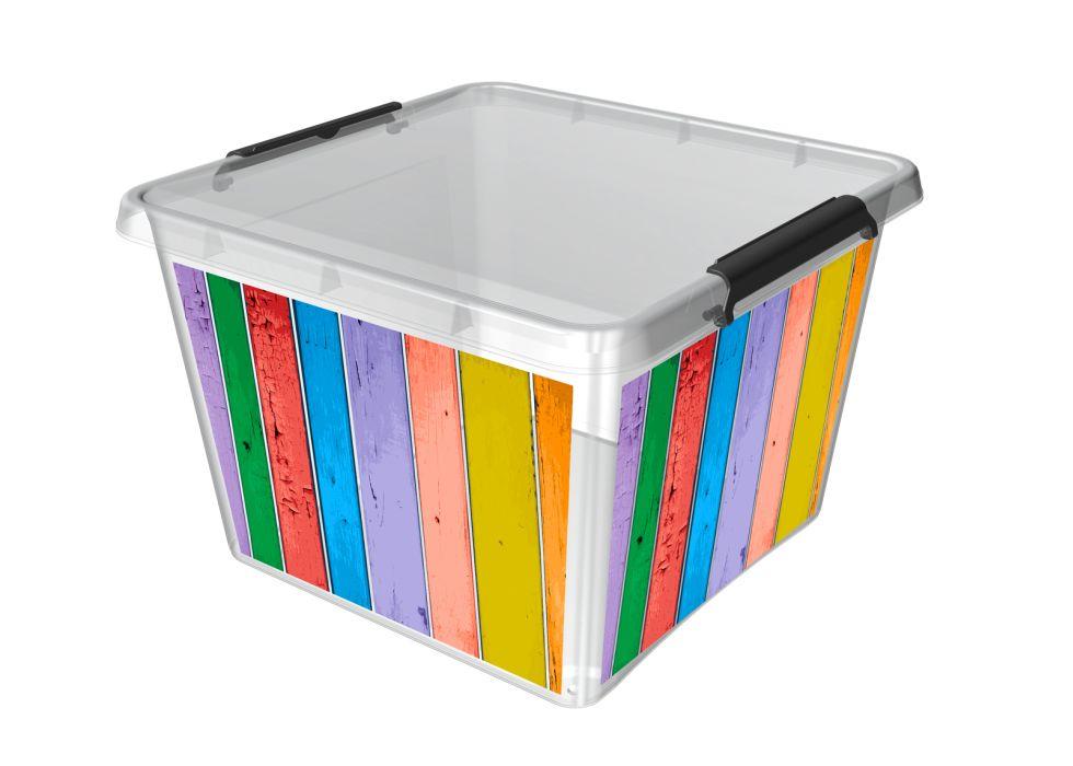 Box 32,0l 39x39x26cm,PRUHY,děts. plast