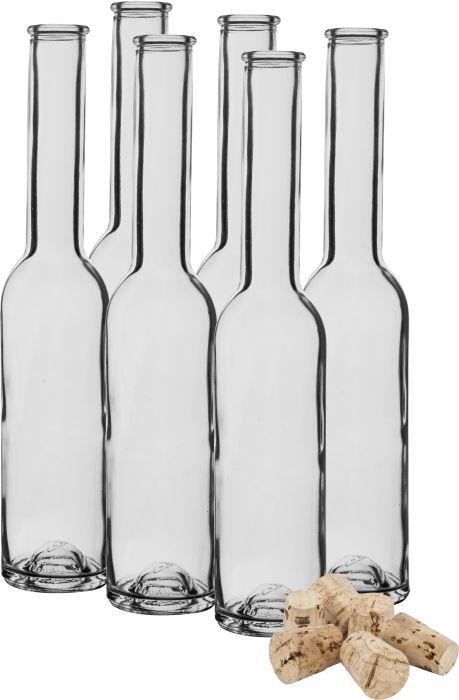 Láhev 0,2l sklo, úzká + korková zátka (1ks)