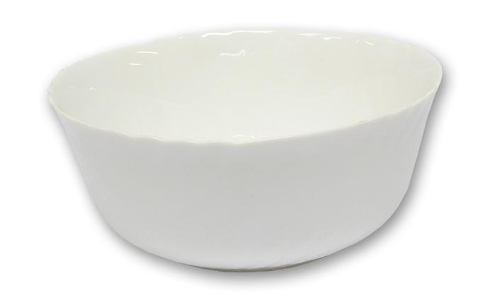 Mísa d24cm salát. EBRO bílé, opál.sklo