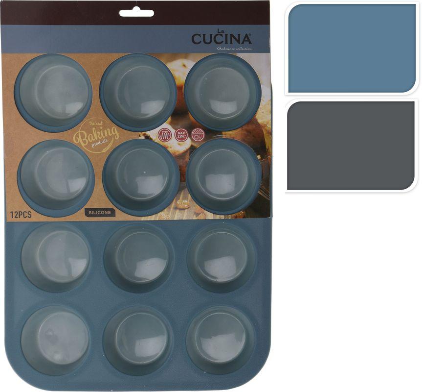 Forma MUFFINY 12ks, 33x25x3cm,mix barev, silikon