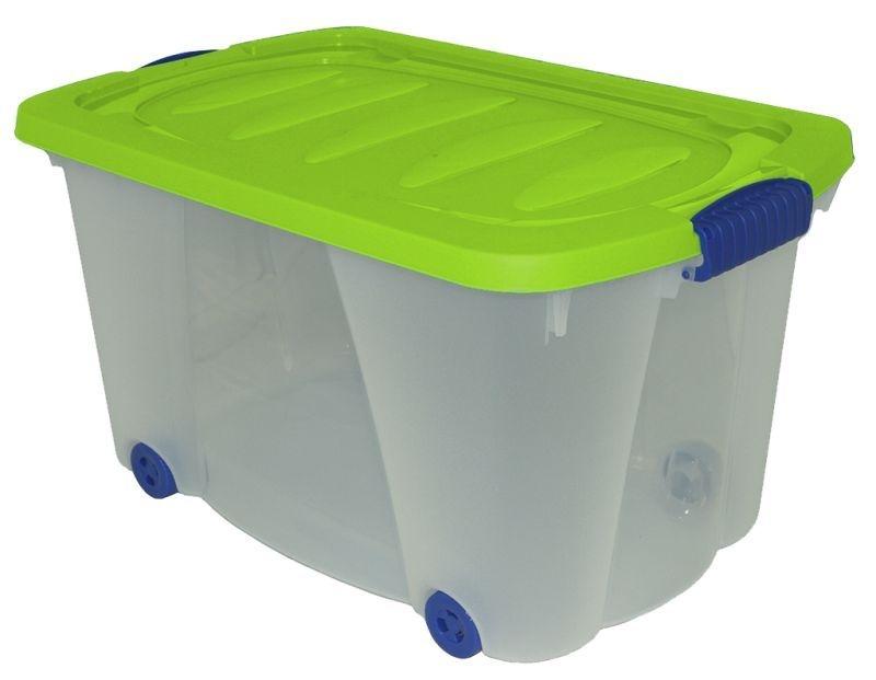 Box 76,0l, 60x40x32cm, kolečka, plast