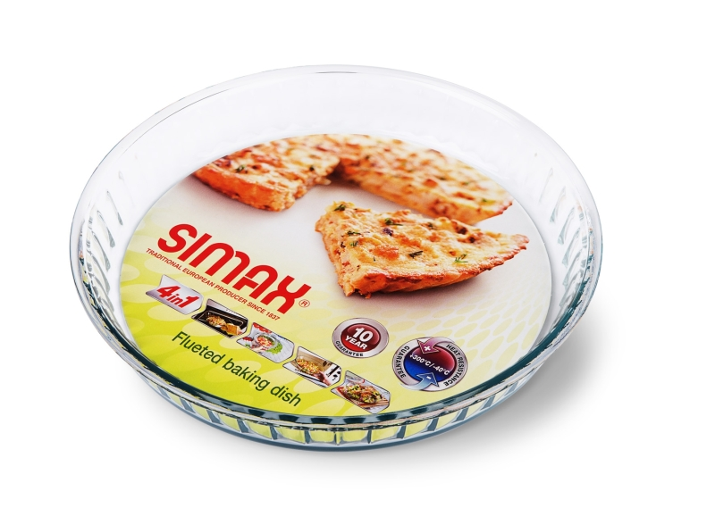 Forma koláč, 2,1 l, d26x5,8cm, var. sklo SIMAX