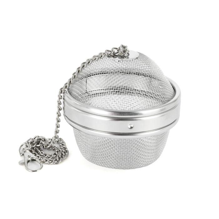 čajítko d 9cm na koření/čaj-závěs.řetízek, kov