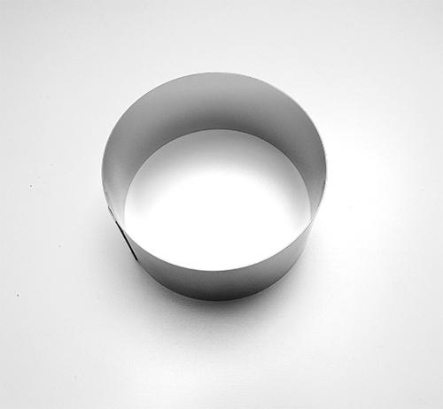 Form.Kolečko na přílohy, d8x4cm, č.6014, pocín