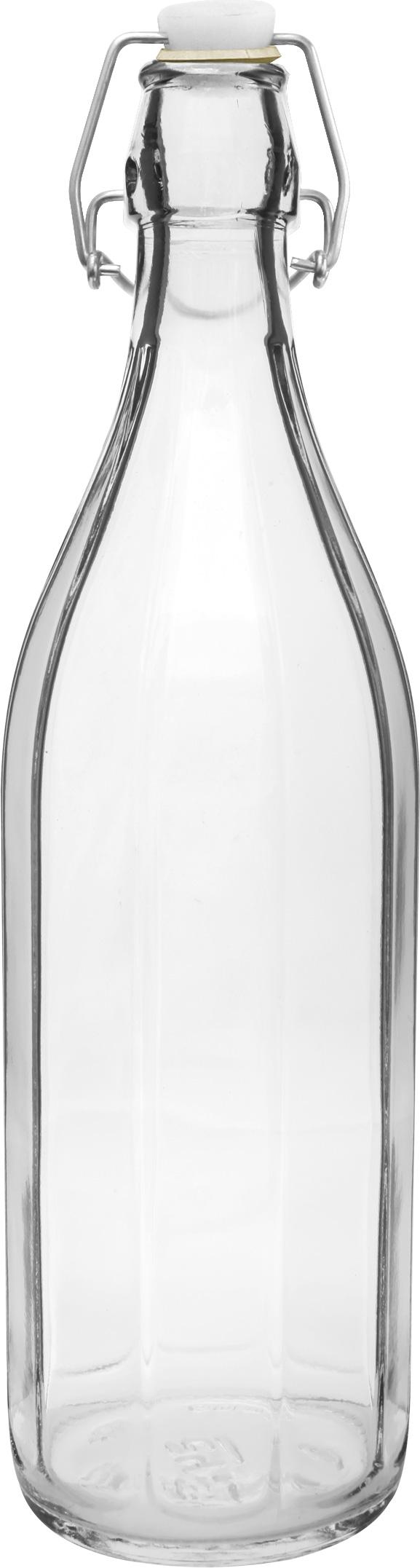Láhev 1,0l PÁSKY, patent.uzávěr, sklo