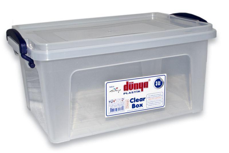 Box  5,5l CLEAR 30x20x14cm, plast