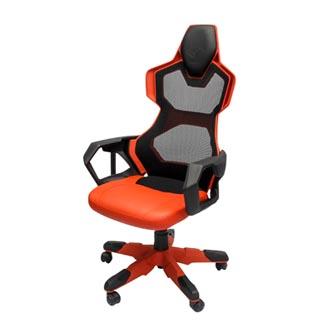 Herní židle E-Blue COBRA AIR, červené, prodyšná záda