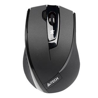 A4tech Myš G9-730FX-1, 2000DPI, 2.4 [GHz], optická, 4tl., 1 kolečko, bezdrátová, černá, 1 ks AA, klasická, V-Track