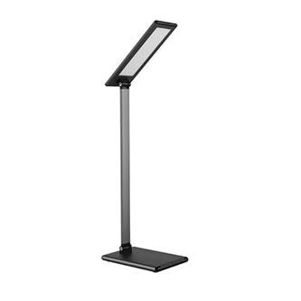 Stolní lampa LED stmívatelná šedá, 8W, plynulá regulace jasu, 100-240V, LED diody SMD2835 72ks