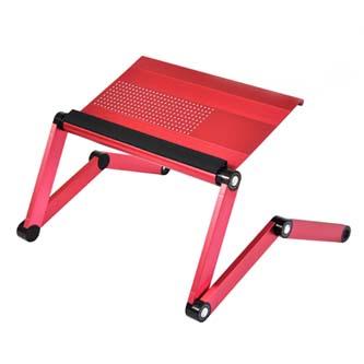 Podstavec pod notebook, s možností rotace o 360°, růžový, hliník-plast, 10 kg nosnost