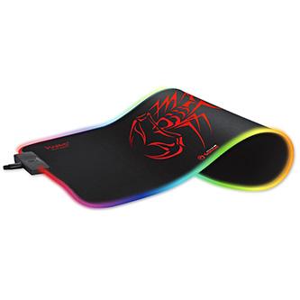 RGB Podložka pod myš, MG8, herní, černá, 350 x 250 mm, 3 mm, Marvo, RGB podsvícení