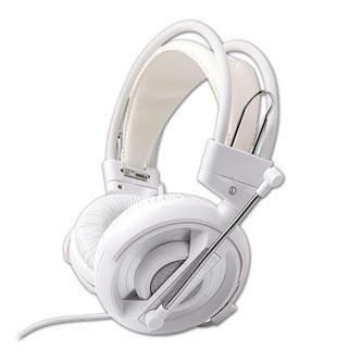 E-Blue Cobra I, herní sluchátka s mikrofonem, bílá, 2x 3.5 mm jack
