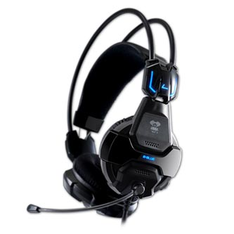 E-Blue Cobra 707, herní sluchátka s mikrofonem, černá, 2x 3.5 mm jack + USB