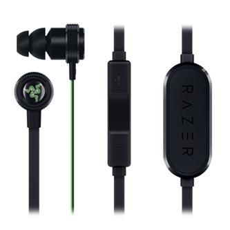 Razer Hammerhead Bluetooth, sluchátka s mikrofonem, ovládání hlasitosti, černá, bluetooth