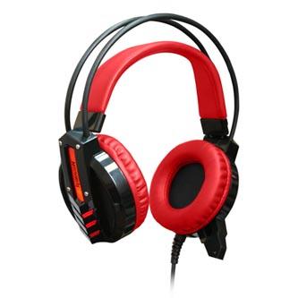 Redragon CHRONOS herní sluchátka s mikrofonem, ovládání hlasitosti, černo-červená, 2x 3.5 mm jack + USB