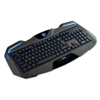 E-BLUE Auroza, Klávesnice US, herní, podsvícené okraje typ drátová (USB), černá